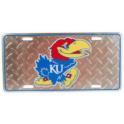 NCAA Kansas Jayhawks Diamond Plate Car Tag