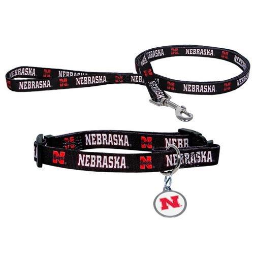 Hunter University of Nebraska Pet Combo Set (Collar, Lead, ID Tag), Large