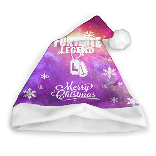 Virginia W. Cole Fortnite Legend Gaming Winter Merry Christmas Hat Party Supplies Christmas Hat Unisex Santa Hat Adult Kids