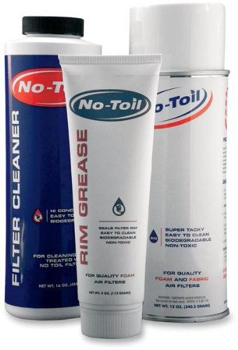 No Toil Filter Maintenance Kit - 3 Pack - 12oz Oill, 16 oz Cleaner, 4 oz Grease NT207