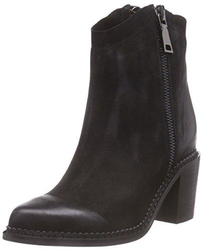 P1 Boston - Botas altas de cuero mujer negro - negro
