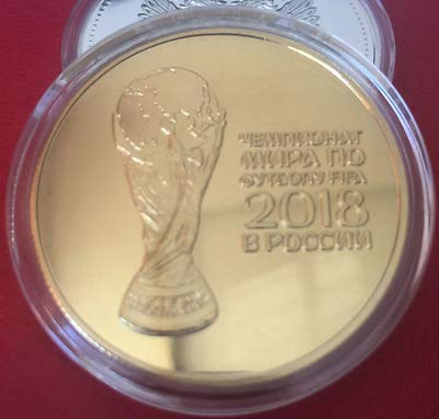 - SJ Shop New Russian 2018 Football World Cup Commemorative Coin Souvenir Collection Coins (Golden)