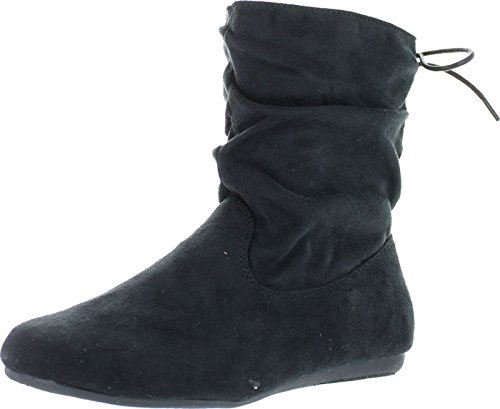 Slouch Womens Boots - Forever Selena-51 Women's Stylish Slouch Side Zipper Flat Heel Mid Calf Boots,Black,10