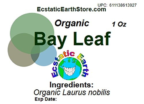 Organic Bay Leaf Dried (Whole) ~ 1/2 Ounce Bag ~ Laurus nobilis