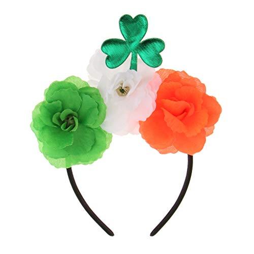Green Shamrock Leaf Flowers Headband Saint Patrick Day Party Parade Dress ()