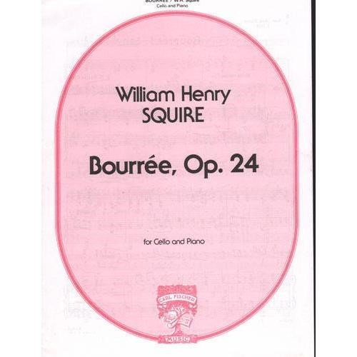 Squire, William Henry - Bouree Op 24 for Cello and Piano Published by Carl Fischer