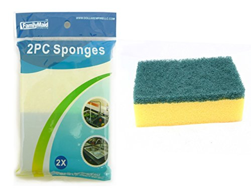 SPONGES 2PC 4.5X2.8'x0.8, Case of 96 by DollarItemDirect