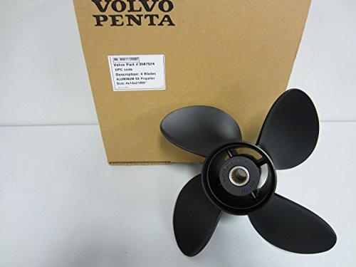 Volvo Penta SX Stern Drive OEM Propeller 14x21 Prop 3587524 4 Blade Aluminum 14 Pitch
