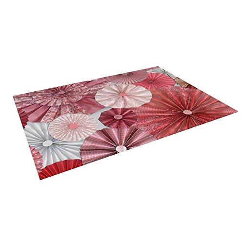 KESS InHouse Heidi Jennings ''Lovesick'' Pink Indoor/Outdoor Floor Mat, 4' x 5' by Kess InHouse