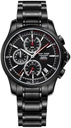 Reef Tigre pour homme Sport Montre chronographe Date Rouge montres à quartz Rga1663