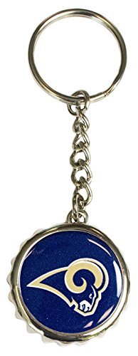 - Pro Specialties Group NFL St. Louis Rams Bottle Cap Keychain, Navy, One Size