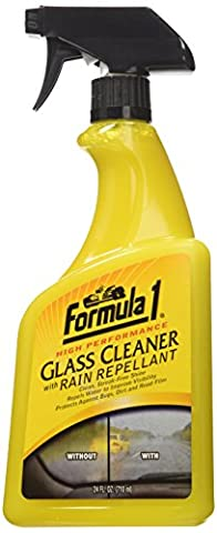 Formula 1 Auto Glass Cleaner with Rain Repellant – Streak-Free Shine (Rain Repellant Spray)