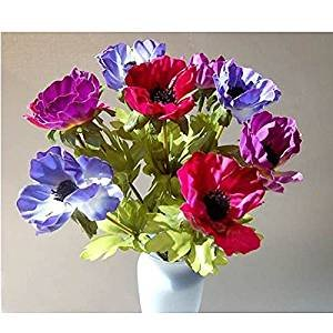 Colorful Spray of Artificial Silk Anemones 84