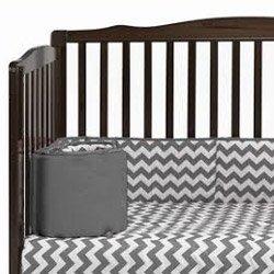 Chevron Cradle Bumper - Color: Grey, Size: 18 x 36