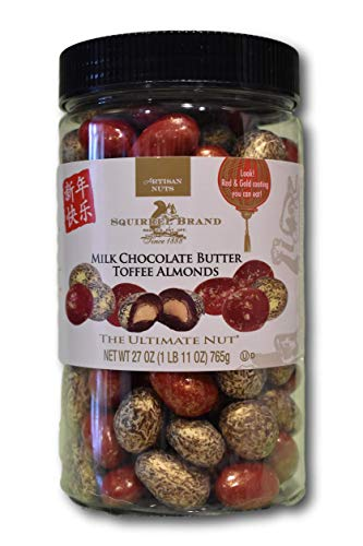 Squirrel Brand Milk Chocolate Butter Toffee Almonds