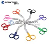 OdontoMed2011® Set of 8 Lister Bandage Scissors - Color Coated Handles, 5.50'' Mix Color 5 1/2''