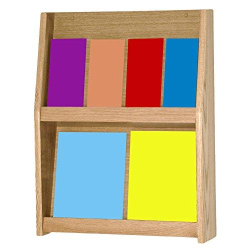 Wooden Mallet 8-Pocket Slope Literature Display, Light Oak