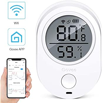 Wifi Temperature Humidity Monitor for iPhone/Android, Govee Wireless Digital Hygrometer Indoor Thermometer, Humidity Gauge, Wireless Temperature Sensor with ...