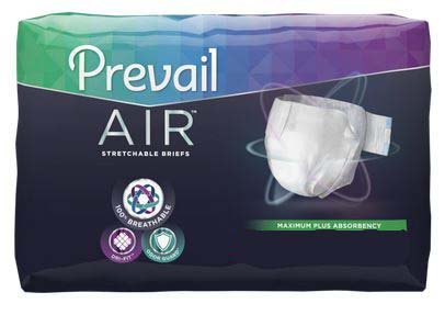 Contoured Brief Adult - Prevail Air Maximum Plus Absorbency Stretchable Incontinence Briefs/Adult Diapers, Size 2, 72 Count