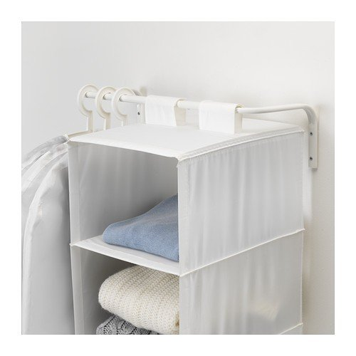Ikea MULIG - Bar Ropa, Blanco - 60 a 90 cm: Amazon.es: Hogar