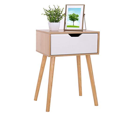 (RYGHEWE Assemble Storage Cabinet Bedroom Bedside Locker Nightstand Portable Wardrobe Chests Organizer US Stock (Nordic Pine Color, Single Drawer))