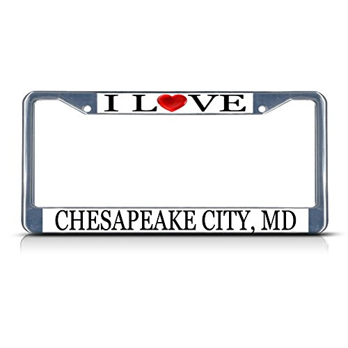 Sign Destination Metal License Plate Frame Solid Insert
