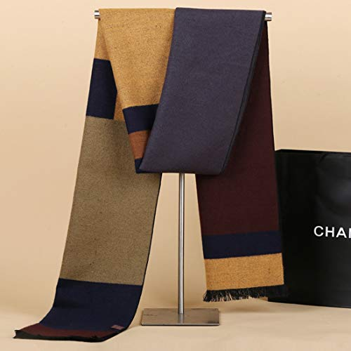 Khaki Lattice - MATCHANT Muffler Cape Oshare Men's Present Autumn/Winter Lattice (Color : Khaki)