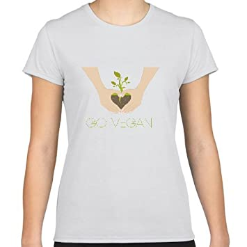 Positivos Camisetas Mujer/Chica - diseño Original go Vegan - M