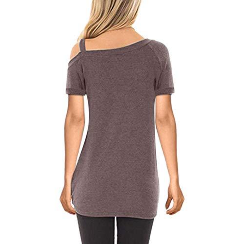Zackate_Women Sweatshirts Women's Short Sleeve Casual Cold Shoulder Tunic Tops Loose Blouse Shirts by Zackate_Women Sweatshirts (Image #2)
