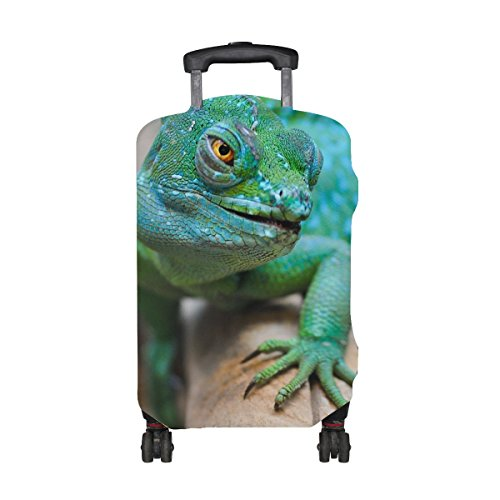 Lizard Reptile Green Muzzle Pattern Print Travel Luggage Protector Baggage Suitcase Cover Fits 18-21 Inch Luggage by TIANYUSS (Image #1)