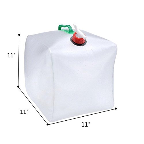 Vahulawa 20L Liter Capacity Foldable Portable Water Carrier Bag -Outdoor Folding Collapsible Transparent Drinking Water Bag Car Water Carrier Container for Camping/Climbing/Picnic/Survival Emergency