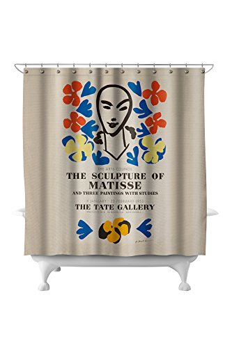 The Sculpture of Matisse - Tate Gallery Vintage Poster (artist: Matisse) France c. 1953 (71x74 Polyester Shower Curtain)