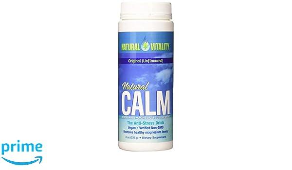 Polvo de magnesio Natural Calm de calidad superior, 0,23 l: Amazon.es: Salud y cuidado personal