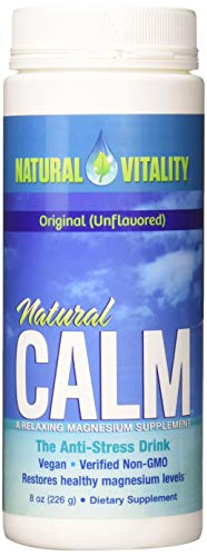 Natural Vitality Calm, The Anti-Stress Drink Mix, Magnesium Supplement Powder, Unflavored- 8 ounce