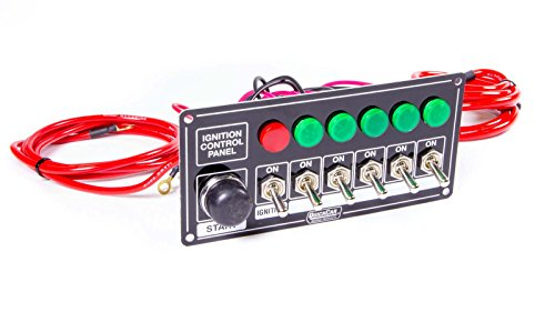 Race Switch Panel - Quickcar Racing Products 50-866 Ignition Panel Blk w/Start But. 5 Acc. & Ligh