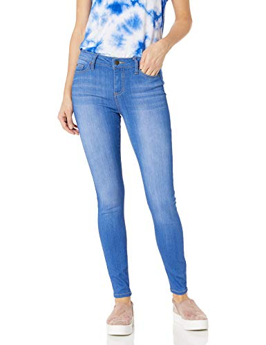 Celebrity Pink Jeans Women's Infinite Stretch Mid Rise Skinny Jean, Blue Lagoon Wash, 7