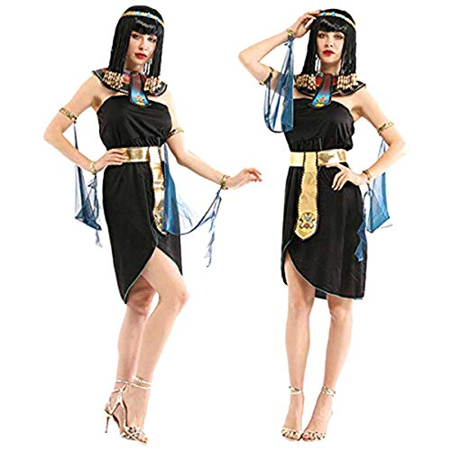 Women's Egyptian Princess Queen Costume - Fun for Costume or Theme Parties - Glamorous Look - Gold Accents - Size Medium