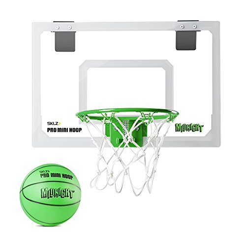 - SKLZ Pro Mini Basketball Hoop with Ball, Glow in the Dark (18 x 12 inches)