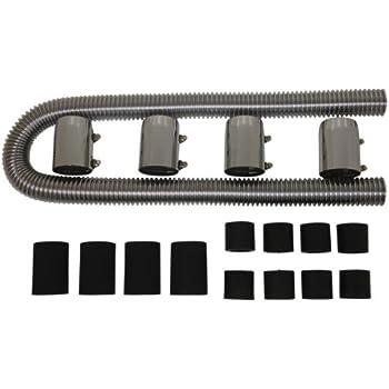 """Universal For Chevy Ford Mopar 48/"""" Chrome Stainless Steel Radiator Hose Kit"""
