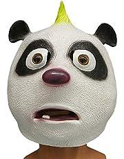 Full Face Headgear Halloween Latex Panda Head Cover Party Mask Cosplay 080