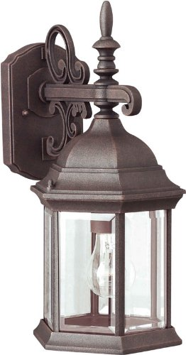Forte Lighting 1708-01 Outdoor Wall Sconce from the Exterior Lighting Collection, Painted Rust