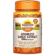 Sundown Garlic 1000 mg, 250 Odorless Softgels (Packaging May Vary)