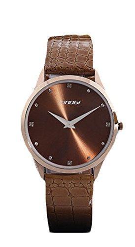 New Sinobi Brand Leather Strap Quartz Military Waterproof Wristwatch Brand Hot Sale Gokelly (Items Sale On)