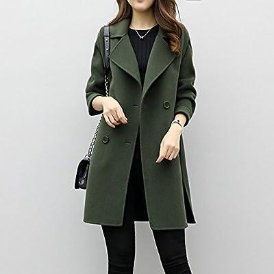 ❤Winterjacke Damen Pulli Mantel Niet Mantel Slash Reißverschluss ... 3611974a41