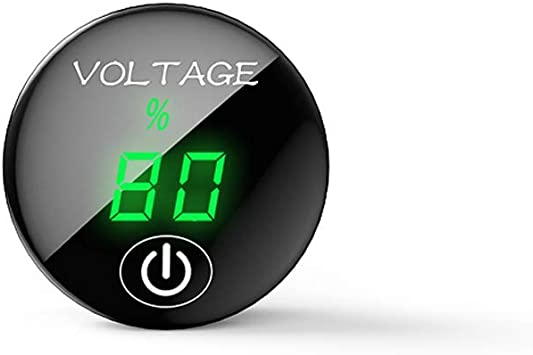 ON OFF Voltmeter 37x17mm Black Car Marine Motorcycle LED Digital Gauge
