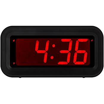 Kwanwa led digital alarm clock battery powered Digital led wall clock