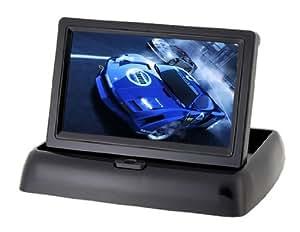 Vayne 4,3 pulgadas TFT LCD de pantalla plegable brillante 4301 Display (Negro)