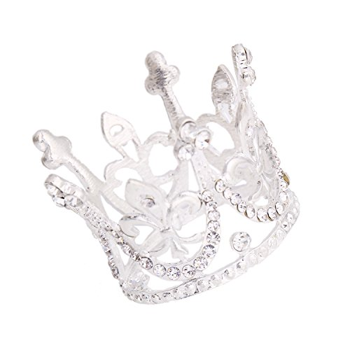 Crown Cake Topper For Kids Princess Themed Baby Shower Birthday Party Tiara Decoration