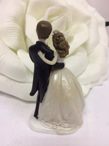 48 Wedding Bride and Groom Couple Favor Cake Topper Figurine by onlinepartycenter (Image #1)