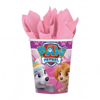 9 Oz Paper Party Cups (Girl Pups Paw Patrol 8 Pack 9 oz. Paper Cups Birthday Party Supplies Skye &)